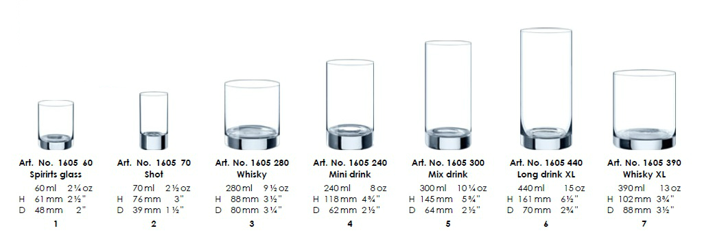 Classic Spirits Glass 60ml (6KS)