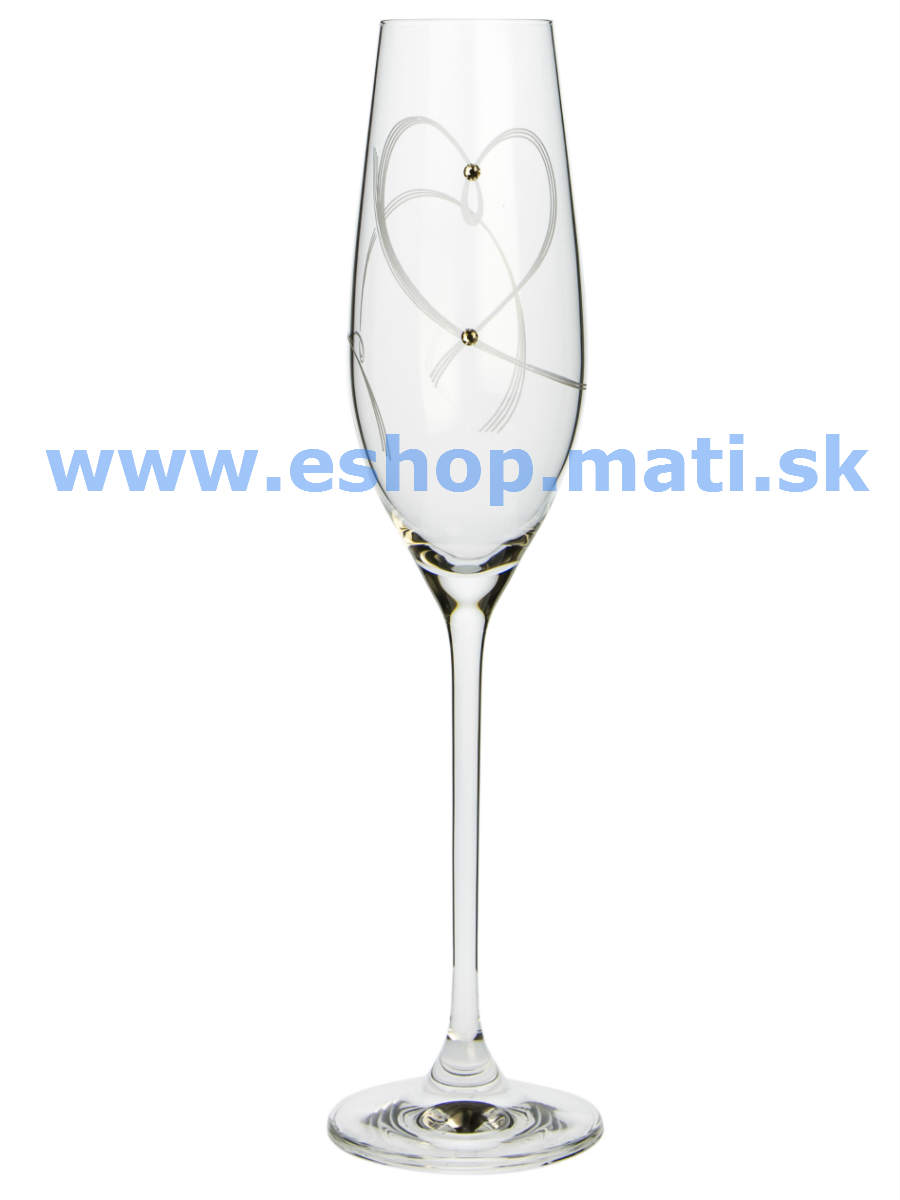 Flétne Celebration srdcia Swarovski Crytsals (2KS)
