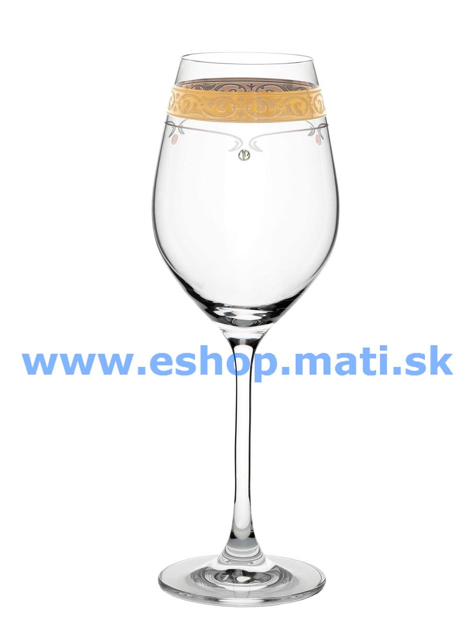 Kalich na víno Royal Gold 360ml 40352 Swarovski Crystals (2KS)