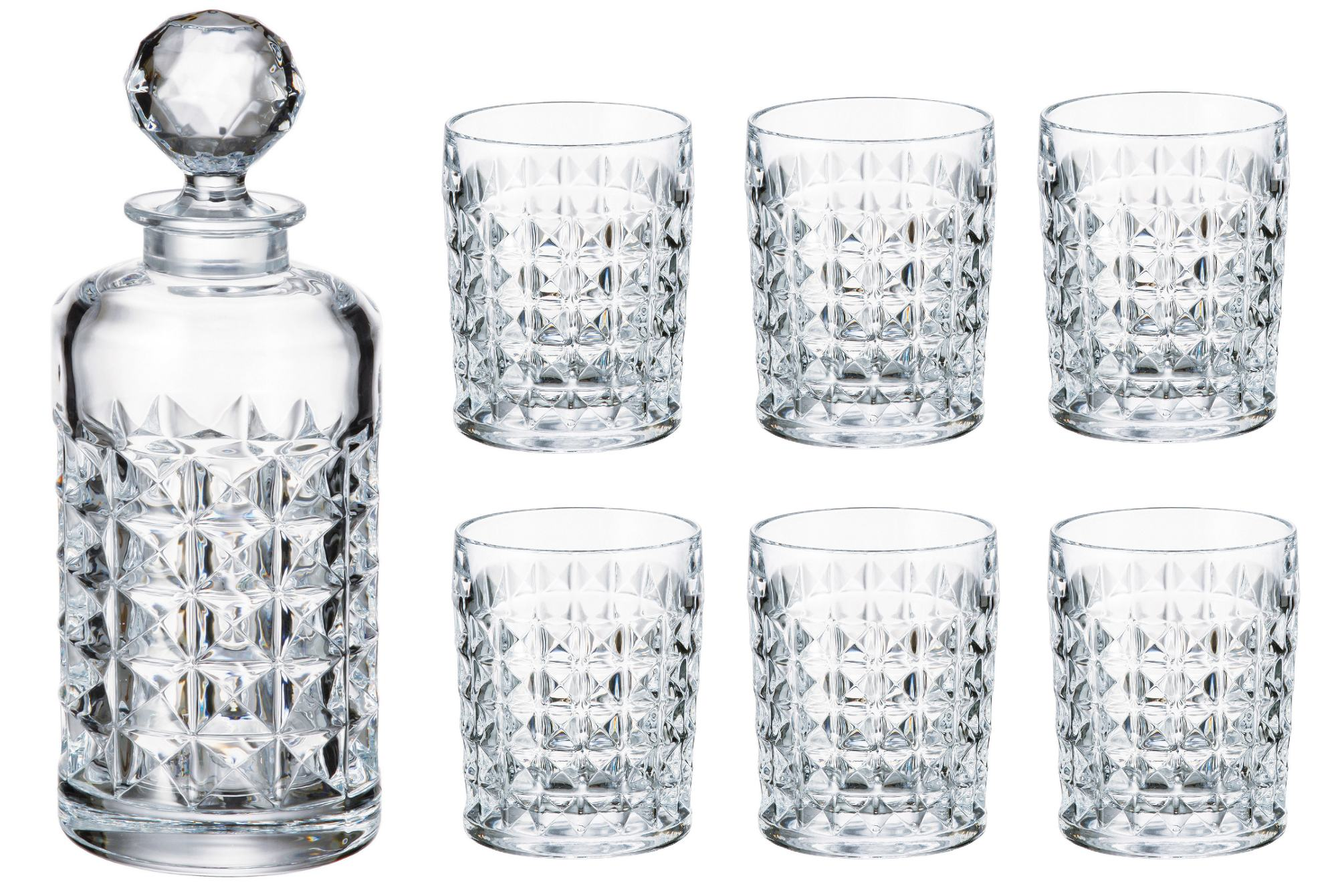 Diamond set decanter 650ml + poháre 230ml (1+6)
